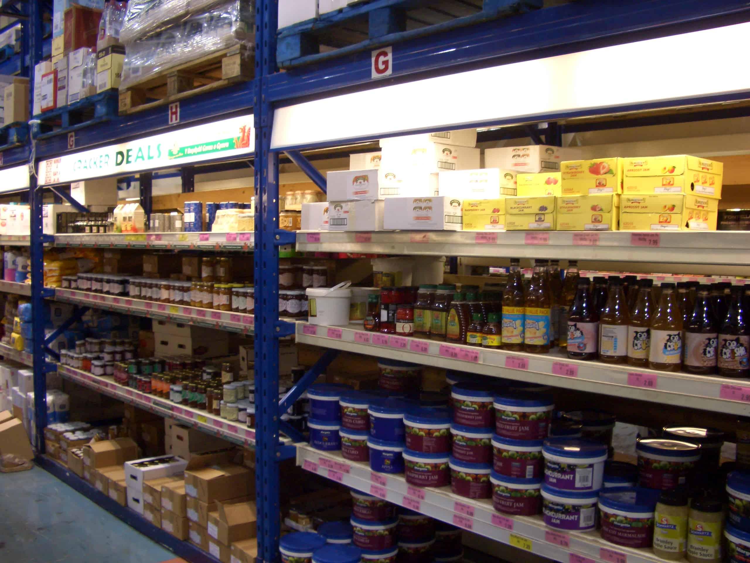 Food Production Widespan Shelving Racking