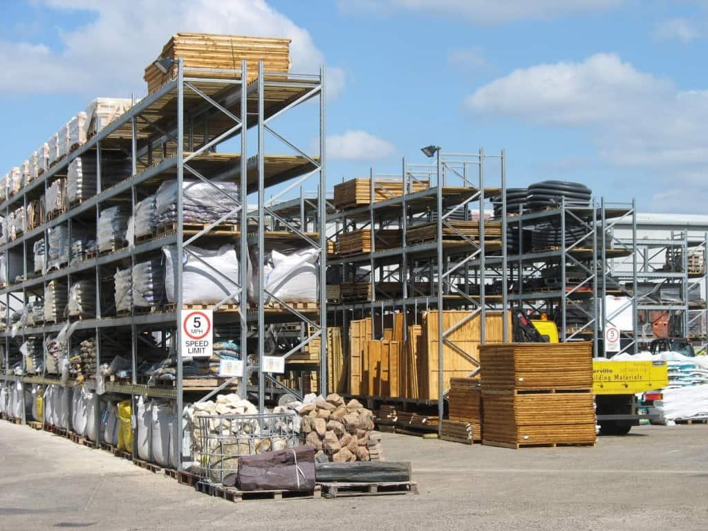 Builders Merchants Yard Pallet Racking