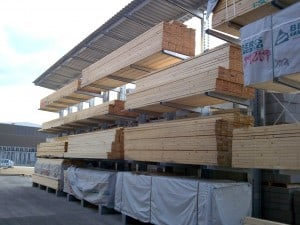 Timber Merchants Cantilever Racking