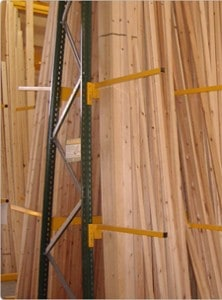 Vertical Racking Storage for Timber