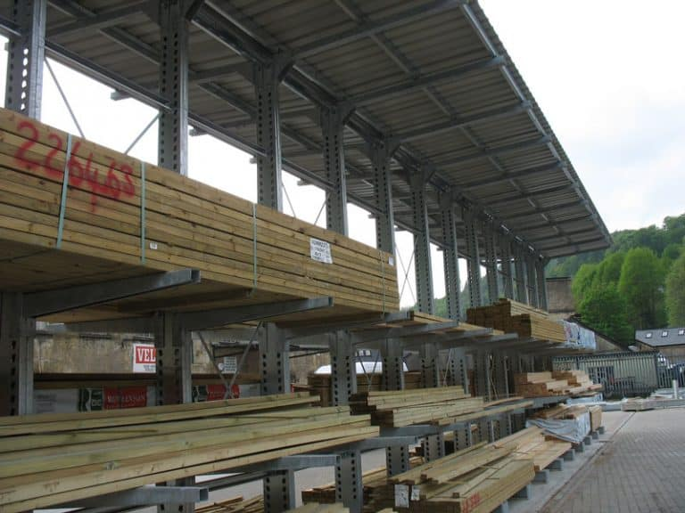 External Cantilever Racking with Canopy