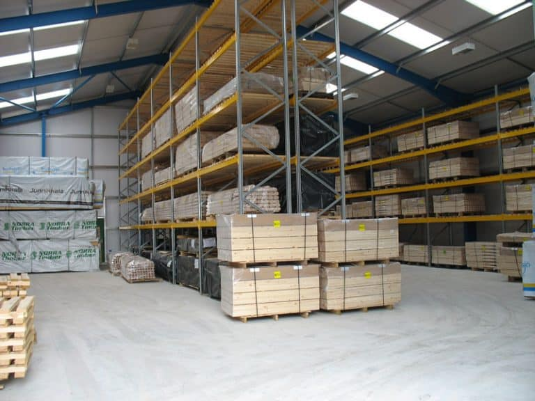 Internal Pallet Racking for Timber Mouldings